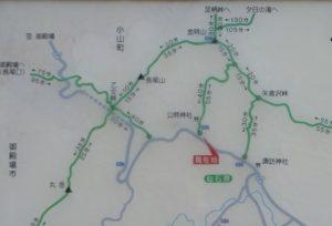金時山」の地図