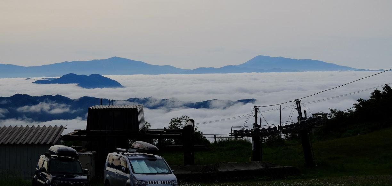 「八方池」①幻想的な雲海~林道を走って雲を突き抜ける