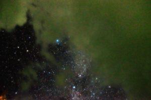 天頂付近の星