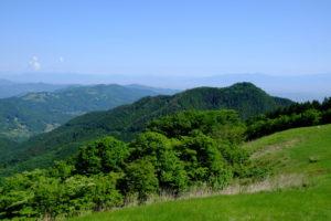 堂平山から見た笠山
