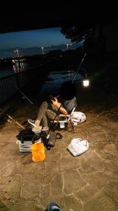 北区での釣り風景