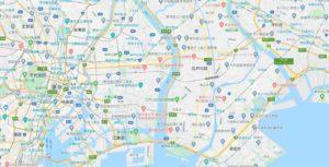 下流の地図