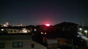 屋上から遠くの花火