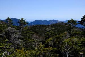 北奥千丈岳から雲取山