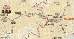 国師岳地図