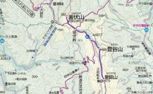 釜伏山地図