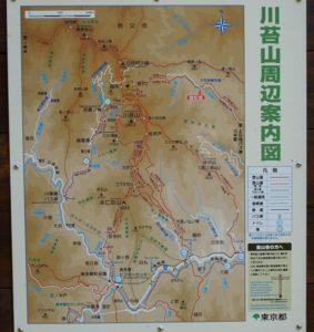 川苔山地図