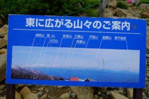 山の紹介看板