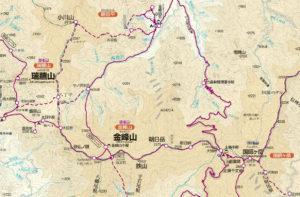 金峰山地図