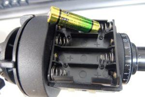 乾電池の場所