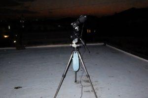 屋上と赤道儀