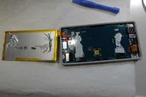 電池を外したケース