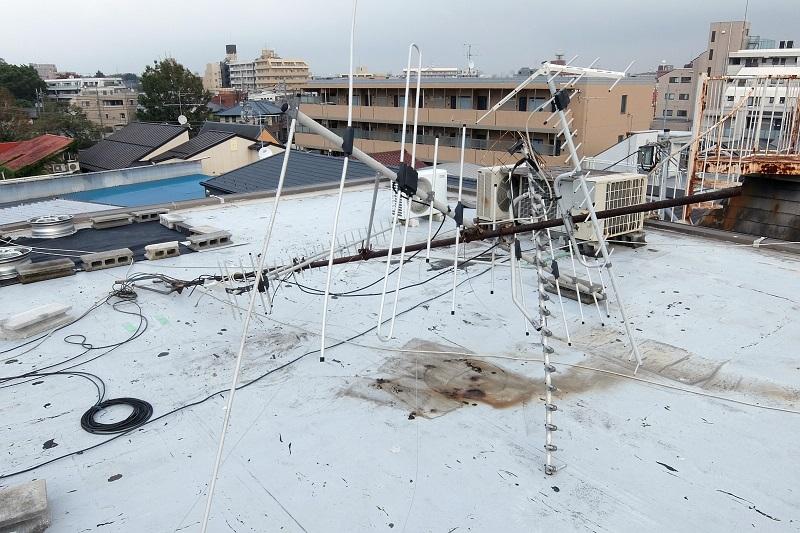 屋上のアンテナが台風24号で倒れた~アンテナ再設置DIY