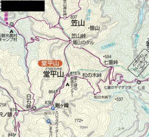 堂平山付近地図