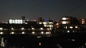 都心方向の夜景