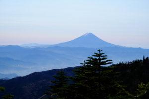 国師ヶ岳から富士山