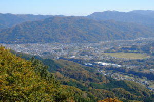 山頂から町