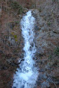 凍った三頭大滝